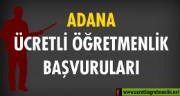 Adana Ücretli Öğretmenlik Başvuruları (2020-2021)