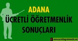 Adana Ücretli Öğretmenlik Sonuçları (2020-2021)