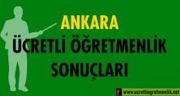 Ankara Ücretli Öğretmenlik Sonuçları (2020-2021)