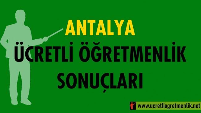 Antalya Ücretli Öğretmenlik Sonuçları (2020-2021)