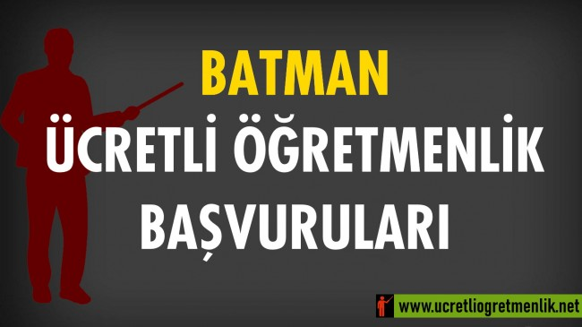 Batman Ücretli Öğretmenlik Başvuruları (2020-2021)