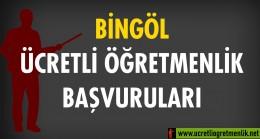 Bingol Ücretli Öğretmenlik Başvuruları (2020-2021)