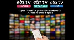 Uzaktan Eğitim Uydu Frekans ve Yayın Platformları