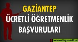 Gaziantep Ücretli Öğretmenlik Başvuruları (2020-2021)