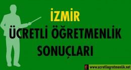 İzmir Ücretli Öğretmenlik Sonuçları (2020-2021)