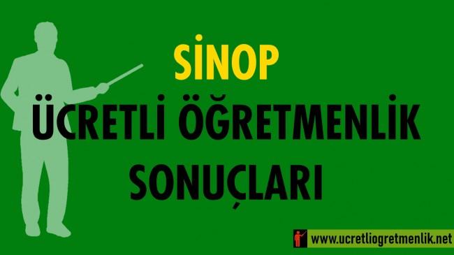 Sinop Ücretli Öğretmenlik Sonuçları (2020-2021)