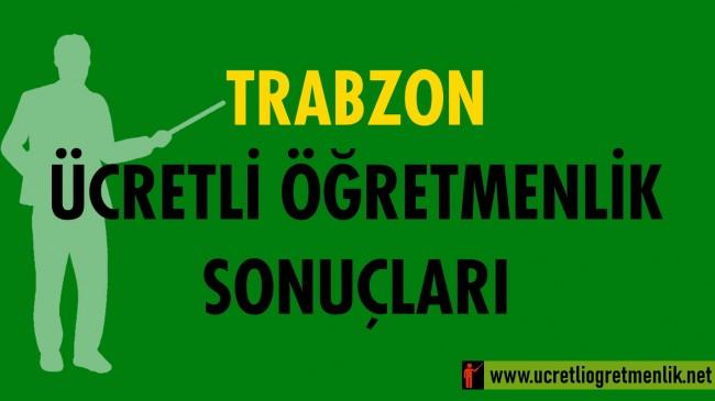 Trabzon Ücretli Öğretmenlik Sonuçları (2020-2021)