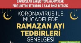 Ramazan Ayı Tedbirleri Genelgesi yayımlandı