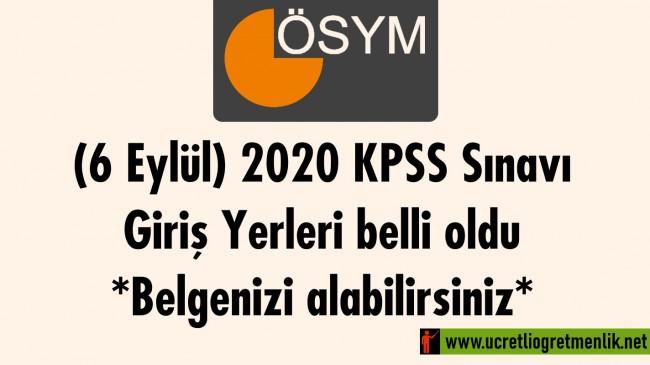 (6 Eylül) 2020 KPSS Sınavı Giriş Yerleri belli oldu: Belgenizi alabilirsiniz