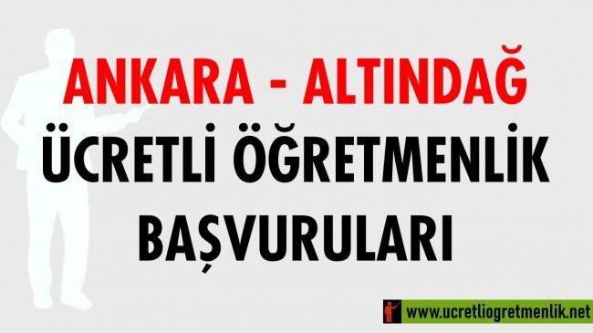 Ankara Altındağ Ücretli Öğretmenlik Başvuruları (2020-2021)