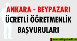 Ankara Beypazarı Ücretli Öğretmenlik Başvuruları (2020-2021)