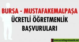 Bursa – Mustafakemalpaşa Ücretli Öğretmenlik Başvuruları (2020-2021)