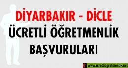 Diyarbakır Dicle Ücretli Öğretmenlik Başvuruları (2020-2021)