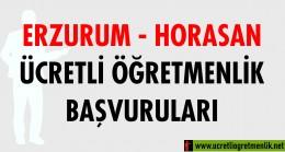 Erzurum Horosan Ücretli Öğretmenlik Başvuruları (2020-2021)