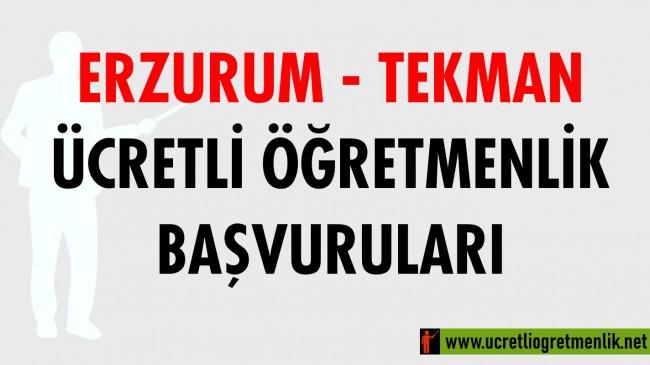 Erzurum Tekman Ücretli Öğretmenlik Başvuruları (2020-2021)