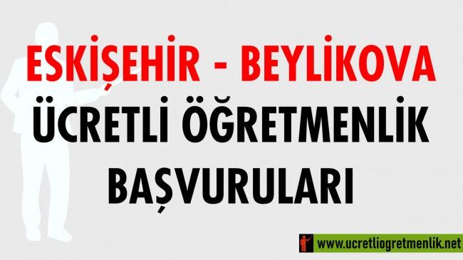 Eskişehir Beylikova Ücretli Öğretmenlik Başvuruları (2020-2021)