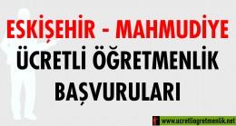 Eskişehir Mahmudiye Ücretli Öğretmenlik Başvuruları (2020-2021)