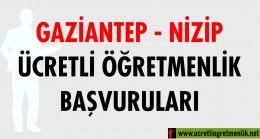 Gaziantep Nizip Ücretli Öğretmenlik Başvuruları (2020-2021)