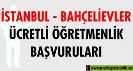 İstanbul Bahçelievler Ücretli Öğretmenlik Başvuruları (2020-2021)