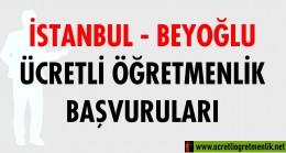 İstanbul – Beyoğlu Ücretli Öğretmenlik Başvuruları (2020-2021)