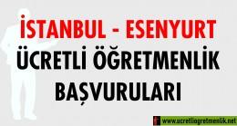 İstanbul Esenyurt Ücretli Öğretmenlik Başvuruları (2020-2021)