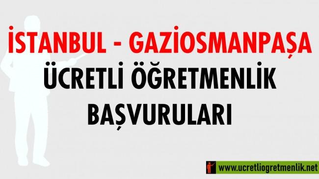 İstanbul Gaziosmanpaşa Ücretli Öğretmenlik Başvuruları (2020-2021)