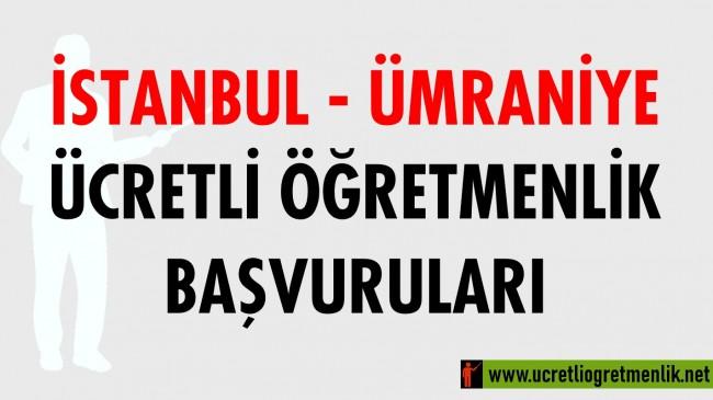 İstanbul Ümraniye Ücretli Öğretmenlik Başvuruları (2020-2021)