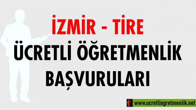 İzmir Tire Ücretli Öğretmenlik Başvuruları (2020-2021)