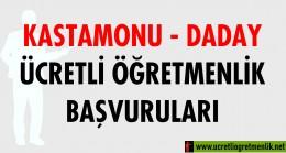 Kastamonu Daday Ücretli Öğretmenlik Başvuruları (2020-2021)