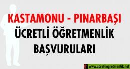 Kastamonu Pınarbaşı Ücretli Öğretmenlik Başvuruları (2020-2021)