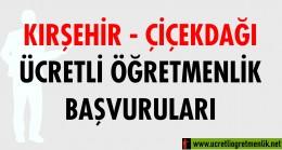 Kırşehir Çiçekdağı Ücretli Öğretmenlik Başvuruları (2020-2021)