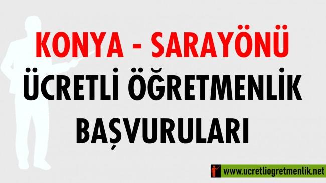 Konya Sarayönü Ücretli Öğretmenlik Başvuruları (2020-2021)