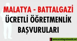 Malatya Battalgazi Ücretli Öğretmenlik Başvuruları (2020-2021)