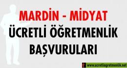 Mardin Midyat Ücretli Öğretmenlik Başvuruları (2020-2021)