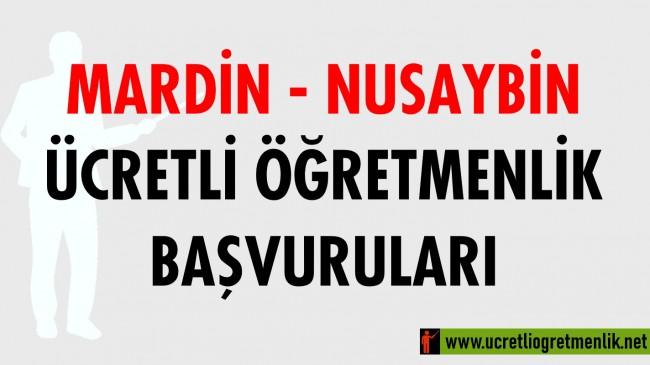 Mardin Nusaybin Ücretli Öğretmenlik Başvuruları (2020-2021)