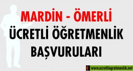 Mardin – Ömerli Ücretli Öğretmenlik Başvuruları (2020-2021)