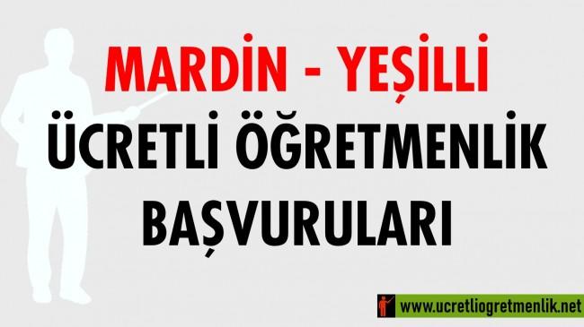 Mardin – Yeşilli Ücretli Öğretmenlik Başvuruları (2020-2021)