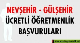 Nevşehir Gülşehir Ücretli Öğretmenlik Başvuruları (2020-2021)