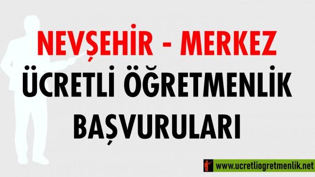 Nevşehir Merkez Ücretli Öğretmenlik Başvuruları (2020-2021)