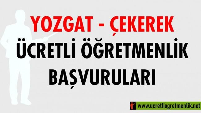 Yozgat Çekerek Ücretli Öğretmenlik Başvuruları (2020-2021)