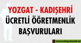 Yozgat Kadışehri Ücretli Öğretmenlik Başvuruları (2020-2021)