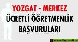 Yozgat Merkez Ücretli Öğretmenlik Başvuruları (2020-2021)