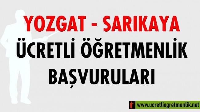 Yozgat – Sarıkaya Ücretli Öğretmenlik Başvuruları (2020-2021)