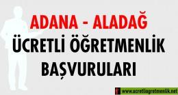 Adana Aladağ Ücretli Öğretmenlik Başvuruları (2020-2021)