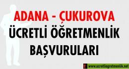 Adana Çukurova Ücretli Öğretmenlik Başvuruları (2020-2021)