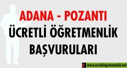 Adana Pozantı Ücretli Öğretmenlik Başvuruları (2020-2021)