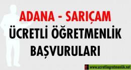 Adana Sarıçam Ücretli Öğretmenlik Başvuruları (2020-2021)