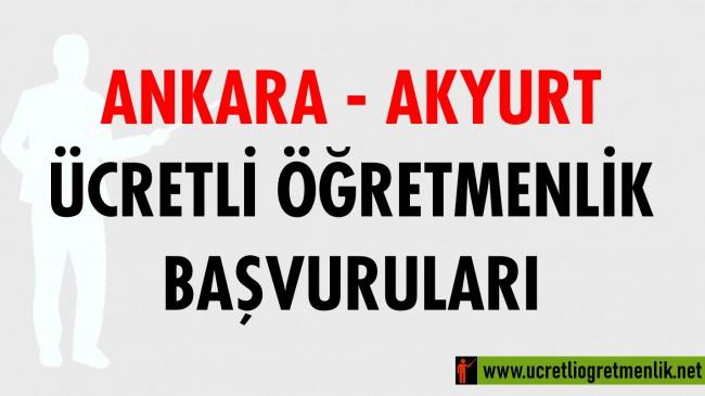 Ankara Akyurt Ücretli Öğretmenlik Başvuruları (2020-2021)