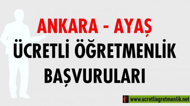Ankara Ayaş Ücretli Öğretmenlik Başvuruları (2020-2021)