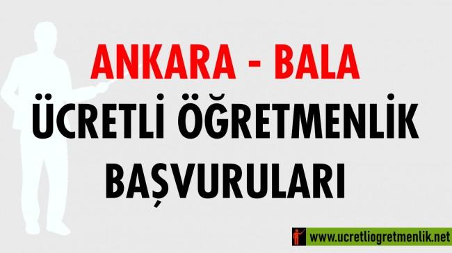 Ankara Bala Ücretli Öğretmenlik Başvuruları (2020-2021)